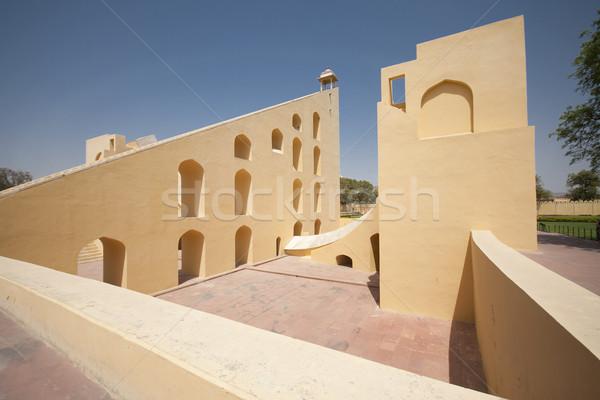 Astronomical observatory Jantar Mantar - Jaipur, Rajasthan, Indi Stock photo © johnnychaos