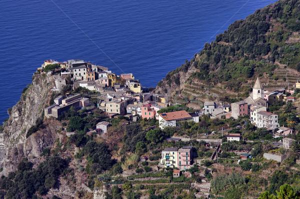 Village mer côte maison paysage Photo stock © johny007pan