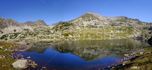 Berg meer gletsjer Roemenië hemel natuur Stockfoto © johny007pan