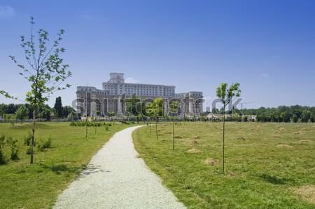 дворец парламент Бухарест люди дома Румыния Сток-фото © johny007pan