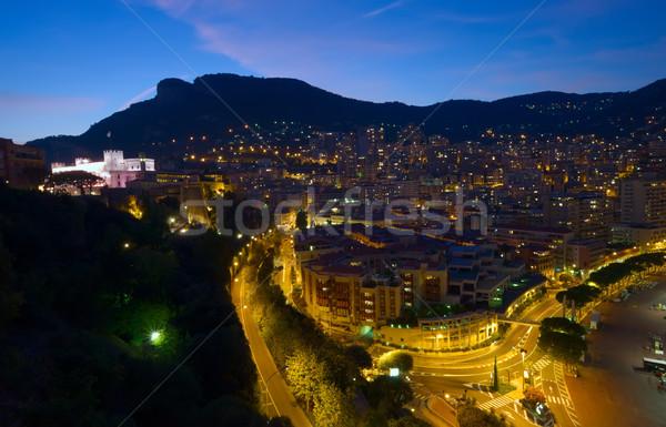 Vue Monaco nuit route bâtiment ville Photo stock © johny007pan