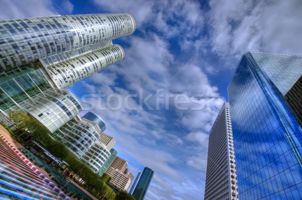 Immeubles de bureaux Paris France modernes gratte-ciel affaires Photo stock © johny007pan