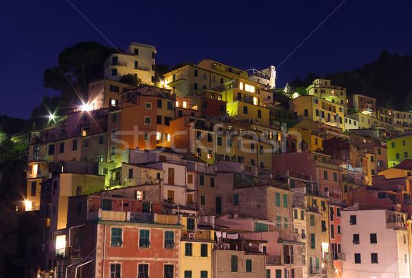 Bâtiments nuit traditionnel ciel maison bleu Photo stock © johny007pan