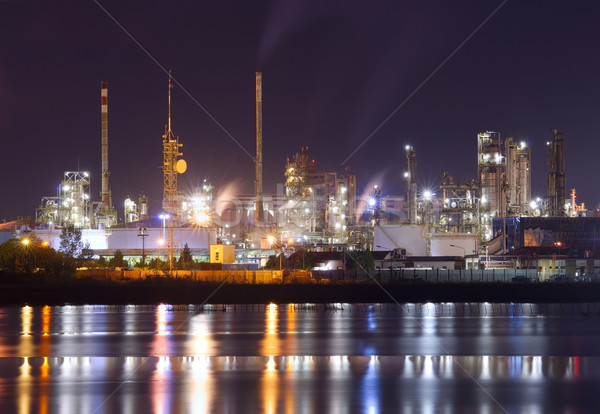 Petrochemical plant in night  Stock photo © johny007pan