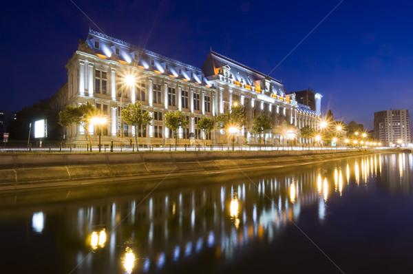 Бухарест ночь правосудия дворец Румыния Сток-фото © johny007pan