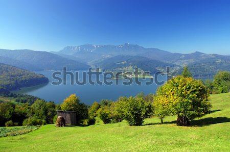 Montagne lac fraîches été paysage Roumanie Photo stock © johny007pan