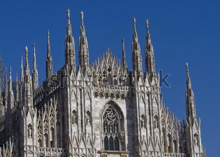 Koepel detail milaan kathedraal details Stockfoto © johny007pan
