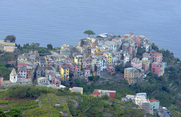 Village ciel bâtiment paysage mer été Photo stock © johny007pan