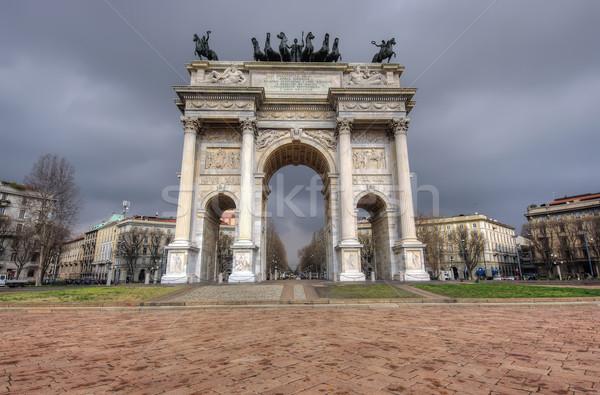 Arc paix large vue Italie Photo stock © johny007pan