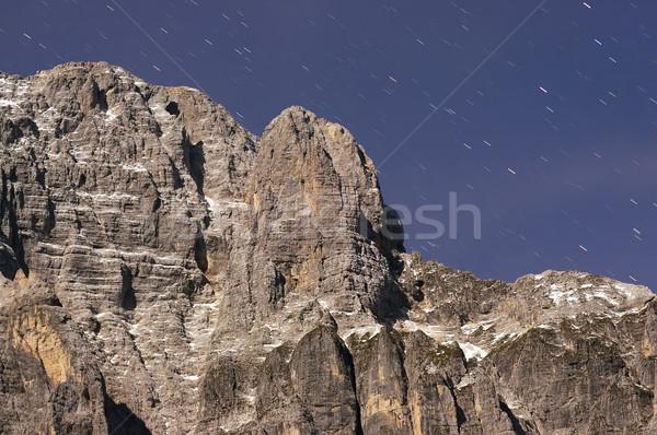 Nuit montagne Rock paysage espace star Photo stock © johny007pan