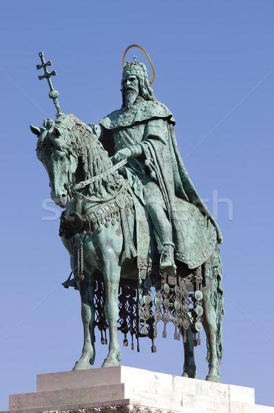 Statue Budapest Hongrie couleur modèle histoire Photo stock © johny007pan