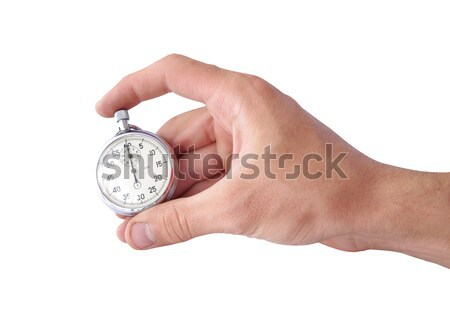 Commencer temps main chronomètre isolé blanche Photo stock © johny007pan