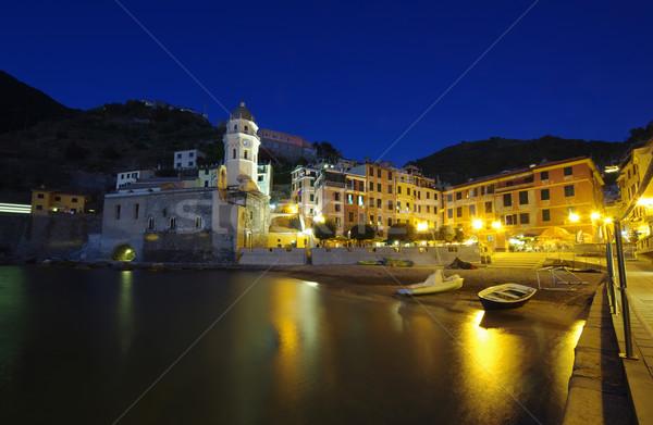 Village Italie nuit vue pêche eau Photo stock © johny007pan