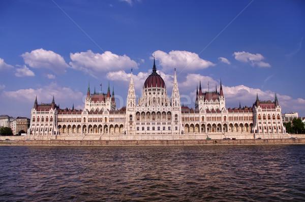 Budapeşte parlamento Bina manzara kentsel nehir Stok fotoğraf © johny007pan