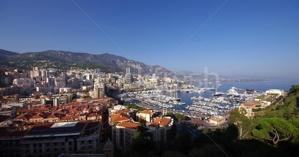 Monaco large vue port nuages ville Photo stock © johny007pan