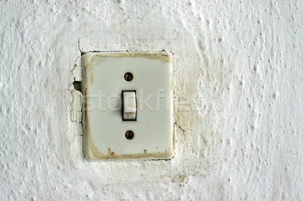 古い 光スイッチ 伝統的な 壁 ホーム エネルギー ストックフォト © johny007pan