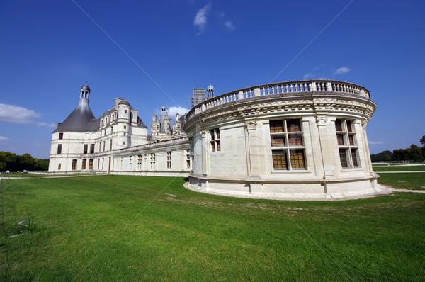 Château vue de côté français médiévale herbe paysage Photo stock © johny007pan