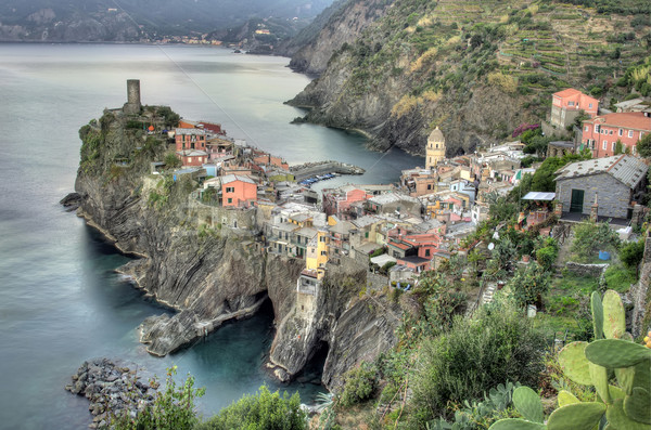 Village Italie pêche paysage mer montagne Photo stock © johny007pan