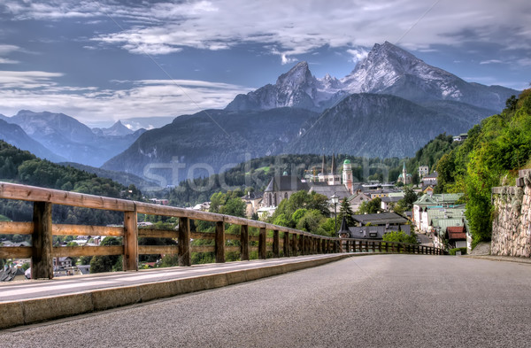 Route montagne Resort paysage alpes Allemagne Photo stock © johny007pan