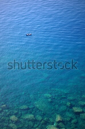 Bateau eau profonde bleu plage Photo stock © johny007pan