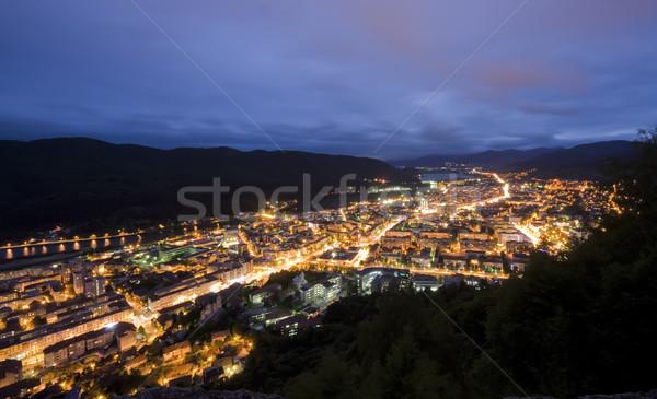 Nocturna de la ciudad montanas ciudad verano noche forestales Foto stock © johny007pan