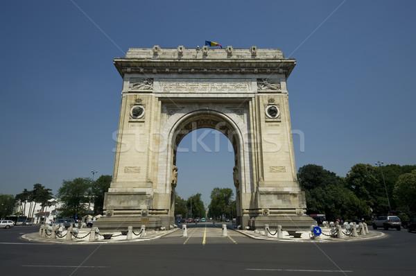 Arc triomphe Bucarest Roumanie ciel ville Photo stock © johny007pan