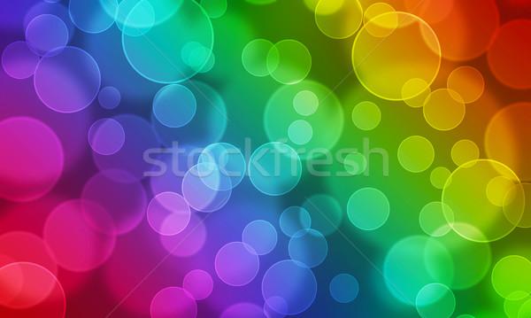 Moderne bokeh abstract partij kleurrijk Stockfoto © Johny87