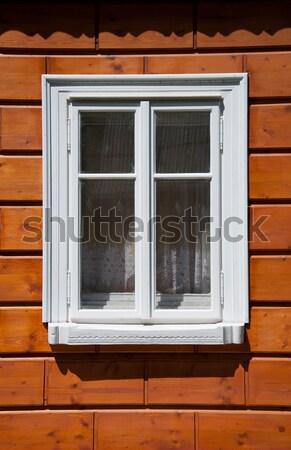 Blanche fenêtre cabine architecture détail design Photo stock © Johny87