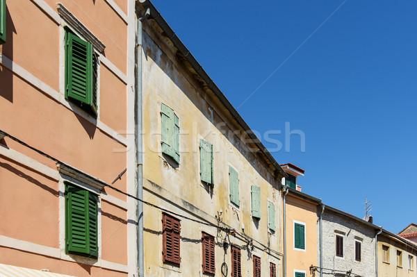 Kroatië straat blauwe hemel huis gebouw Stockfoto © Johny87