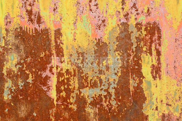 Texture résumé rouille vieux porte fond Photo stock © Johny87