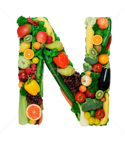 Healthy alphabet - N Stock photo © Johny87