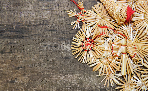 Christmass straw decorations Stock photo © Johny87