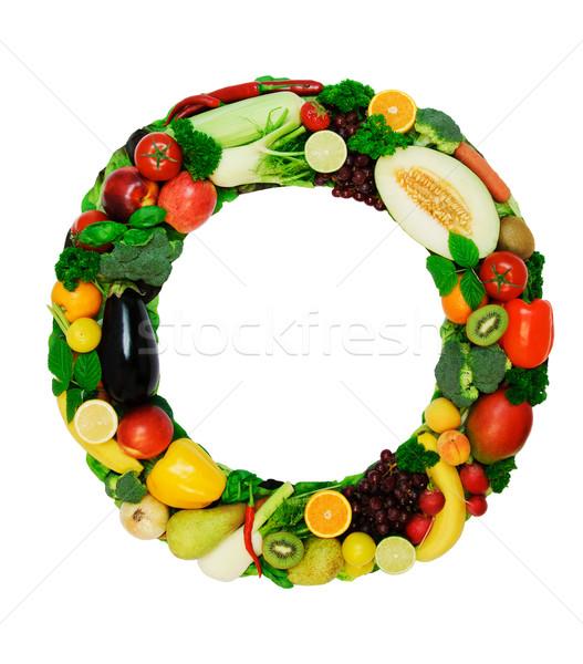 Gezonde alfabet brief verse groenten vruchten geïsoleerd Stockfoto © Johny87