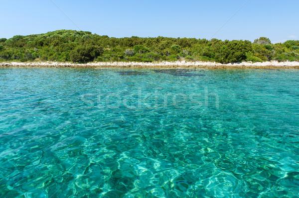 Blue sea in Croatia Stock photo © Johny87