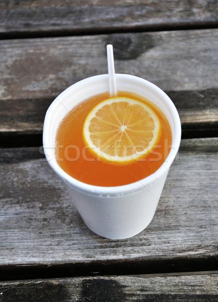 Inverno bevanda calda limone frutta Foto d'archivio © Johny87