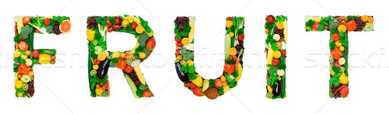 Saine alphabet fruits mot légumes frais fruits Photo stock © Johny87