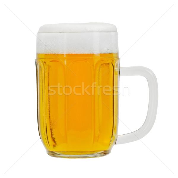 Pół kwarty piwa odizolowany biały żywności świetle Zdjęcia stock © Johny87