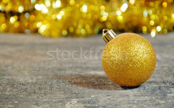 Gold Christmass ball Stock photo © Johny87
