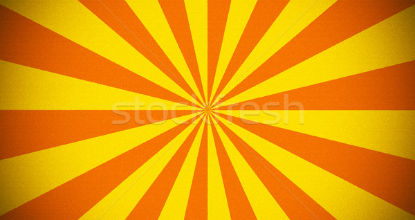 Rayé jaune orange rétro modèle printemps Photo stock © Johny87