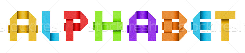 Word ALPHABET made from colored paper alphabet Stock photo © Johny87