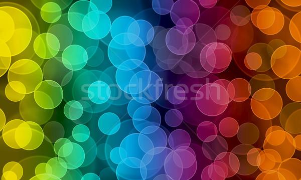 Bokeh résumé floue coloré lumières lumière Photo stock © Johny87