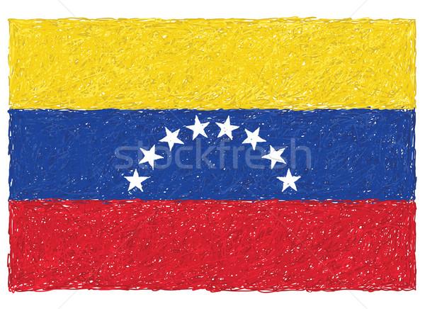 Bayrak Venezuela örnek arka plan mavi Stok fotoğraf © jomaplaon