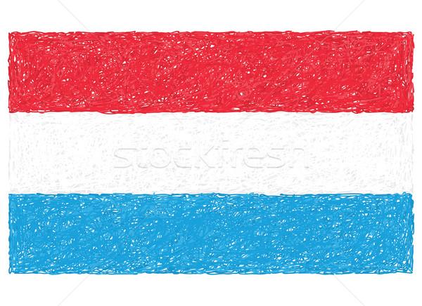 Bayrak Lüksemburg örnek arka plan ülke Stok fotoğraf © jomaplaon