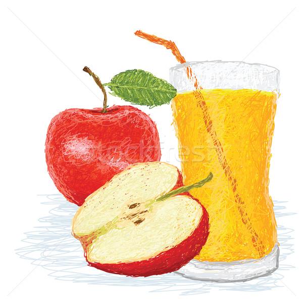 Elma meyve örnek taze yarım Stok fotoğraf © jomaplaon