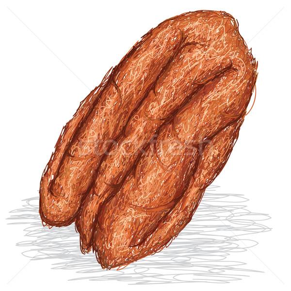 pecan nut Stock photo © jomaplaon