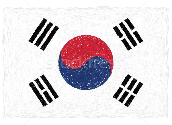flag of south korea Stock photo © jomaplaon