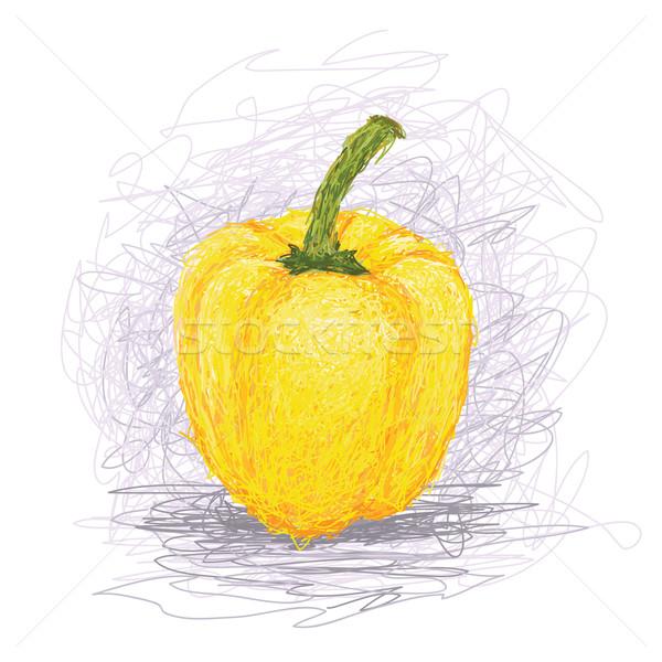 Primer plano ilustración frescos amarillo vegetales Foto stock © jomaplaon
