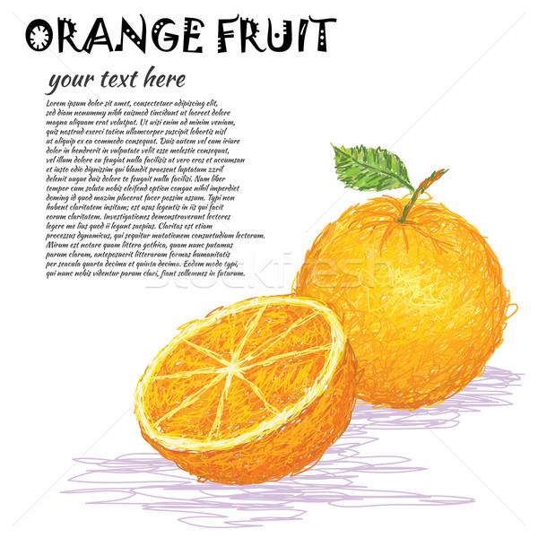 Pomarańczy ilustracja świeże całość Zdjęcia stock © jomaplaon