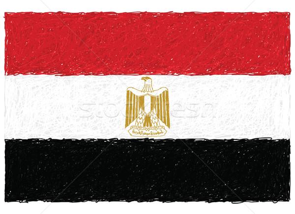 Bayrak Mısır örnek siyah ülke Stok fotoğraf © jomaplaon