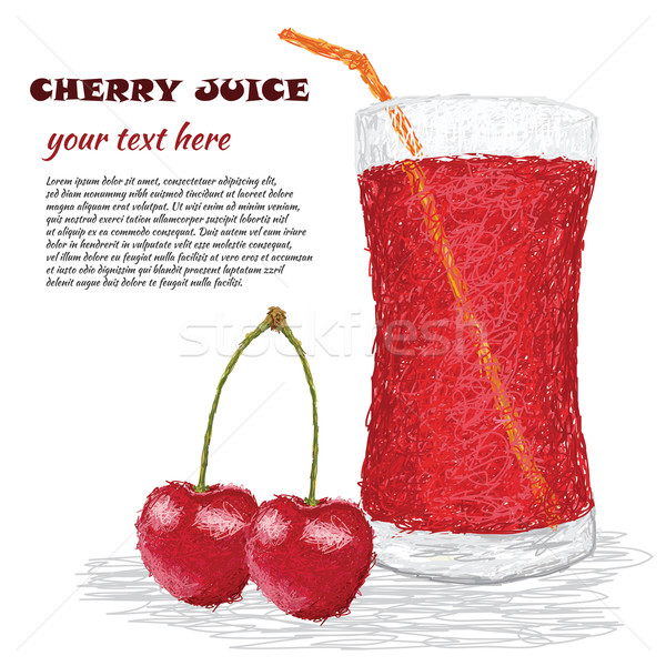 Kiraz meyve suyu örnek taze kiraz Stok fotoğraf © jomaplaon